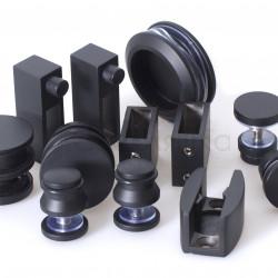 Комплект для душевой раздвижной перегородки 19мм (черный)