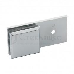 Коннектор стекло-стенка 180 хром